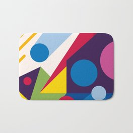 Abstract modern geometric background. Composition 11 Bath Mat
