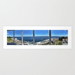 View from Inside Pemaquid Point Lighthouse in Maine (3) Art Print
