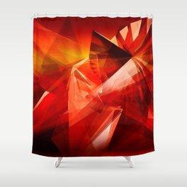 Abstrakt - Feuer der Leidenschaft Shower Curtain