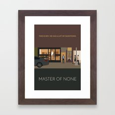 Master Of None Minimalist Poster Framed Art Print