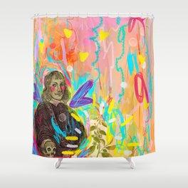 Happy Squirrel 2 - Tarot Shower Curtain
