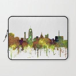 Lansing, Michigan Skyline - Safari Buff Laptop Sleeve