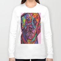 lab Long Sleeve T-shirts featuring Lovable Lab by EloiseArt