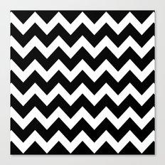 Chevron Black & White Canvas Print
