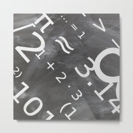 Chalkboard Mathematics Board Metal Print