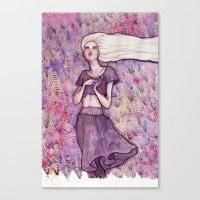 daenerys Canvas Prints featuring Waiting by Verismaya