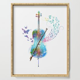 Butterfly Cello Instrument Serving Tray