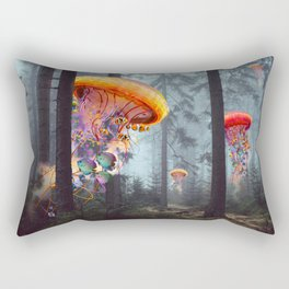 ElectricJellyfish Worlds in a Forest Rectangular Pillow