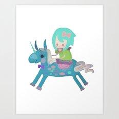 PonyCorn/w Art Print