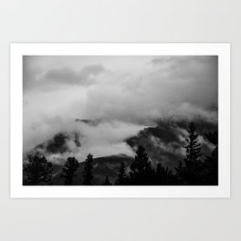 Darkness Unfolds Art Print
