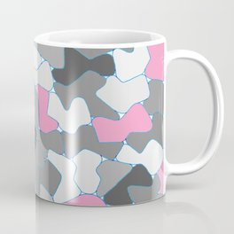 Stone Wall Drawing #2 Pink Coffee Mug