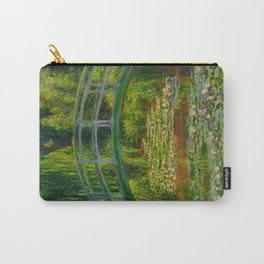 Claude Monet Impressionist Landscape Oil Painting-The Japanese Footbridge and the Water Lily Pool Carry-All Pouch
