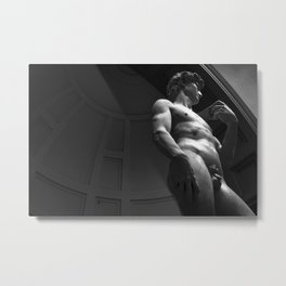 Michelangelo's David Metal Print