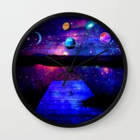 universe Wall Clocks featuring Universe by haroulita