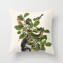 Twiggy Eyes Throw Pillow