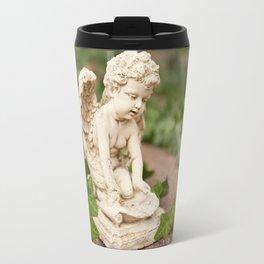 Small angel statue kneel Travel Mug