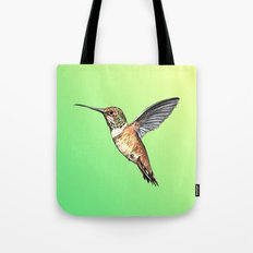 flying hummingbird watercolor sketch Tote Bag