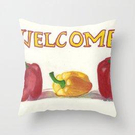 Capsicum Annum Throw Pillow