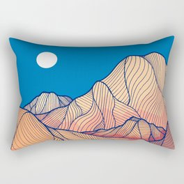 Lines in the mountains Rectangular Pillow