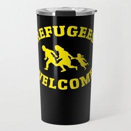 Refugees Welcome Travel Mug