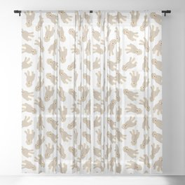 'Ruff Life' Dog Goldendoodle Sheer Curtain