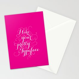 Pretty Typeface. Stationery Cards