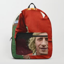 Denis Law in colour Backpack