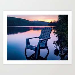 Sunsets & Summer Nights at the Cottage Art Print
