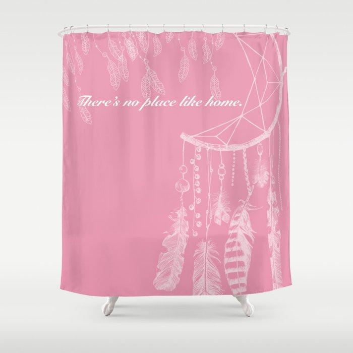 The Pink Dreamcatcher Shower Curtain