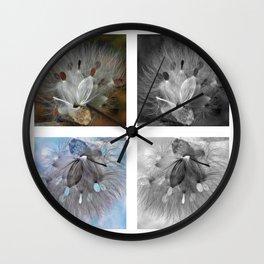 Milkweed Positive Negative Study Wall Clock