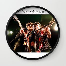 Birds in the Boneyard, Print One: Petey and Mikey on the Mic Wall Clock