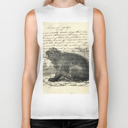 rustic cabin  woodland animal mountain forest grizzly bear Biker Tank