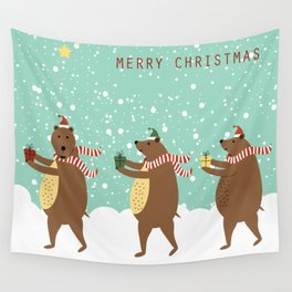 Bears as Three Kings Wall Tapestry