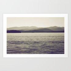 Vintage Lake Art Print