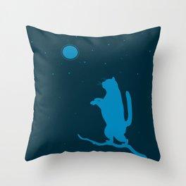 Sleepwalker. Cat illustration Throw Pillow