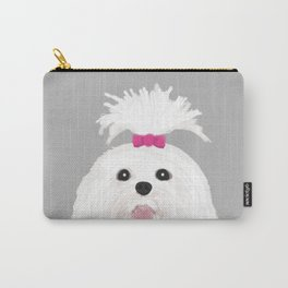 Pima - Shih Tzu cute white funny dog art customizable gift for dog person dog lovers pet art Carry-All Pouch