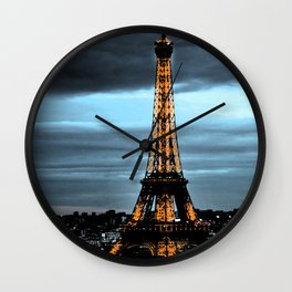 La Tour Eiffel / Nuit Wall Clock