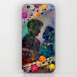 Love is All Around by Michelle Dickens iPhone Skin