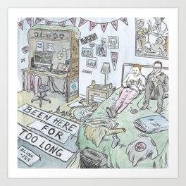 Been Here Bedroom Art Print