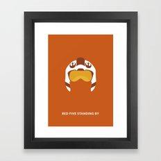 Star Wars Minimalism - Red Five Framed Art Print