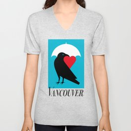 Vancouver's Canuck the Crow Unisex V-Neck