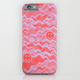 WavySmileys iPhone Case