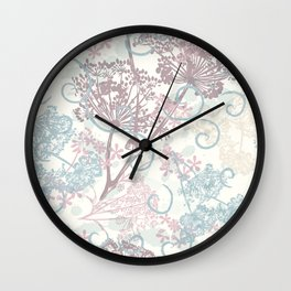 Spring morning field. Abstract floral pattern Wall Clock