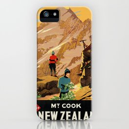 Vintage poster - New Zealand iPhone Case