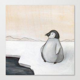 Wandering Penguin Canvas Print