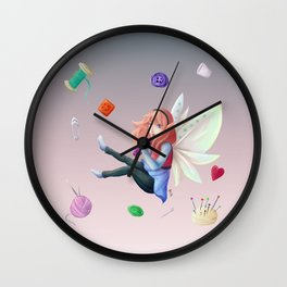 Sewing's fairy Wall Clock