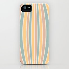 Warped Stripes - Vintage Pastel Colors iPhone Case