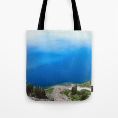 Crater Lake Cloud Reflection Tote Bag