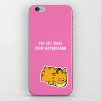 garfield iPhone & iPod Skins featuring Daydream Nimbus - Garfield Tribute by PaulusHyu