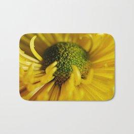 Yellow Flower With Curling Petals Bath Mat